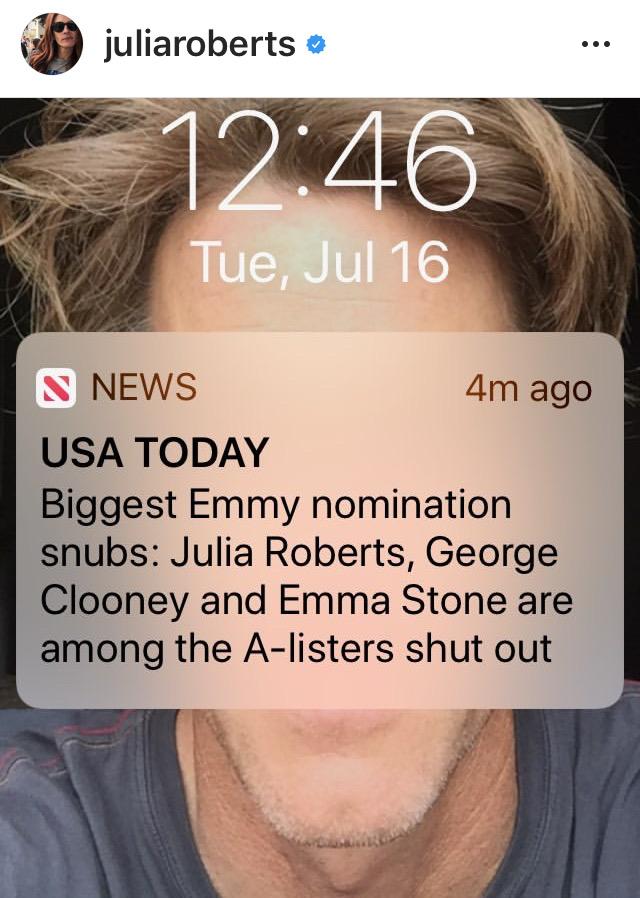 Julia Roberts y los Emmys