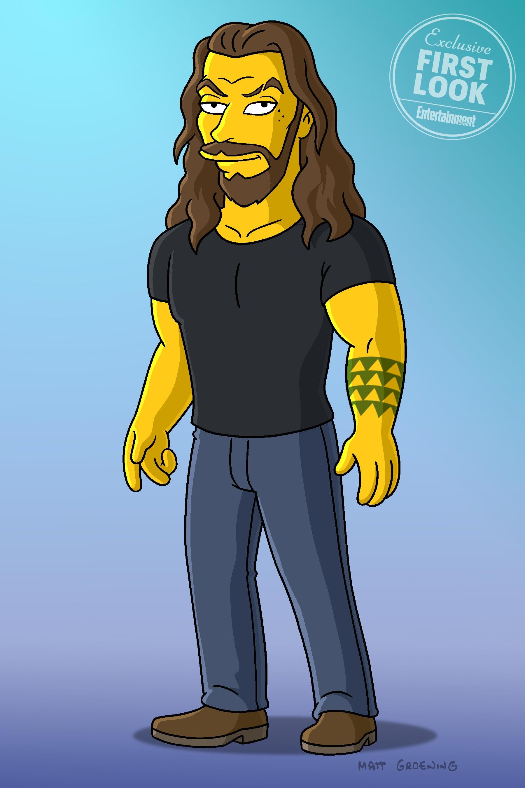 Primera imagen de Jason Momoa en Los Simpson